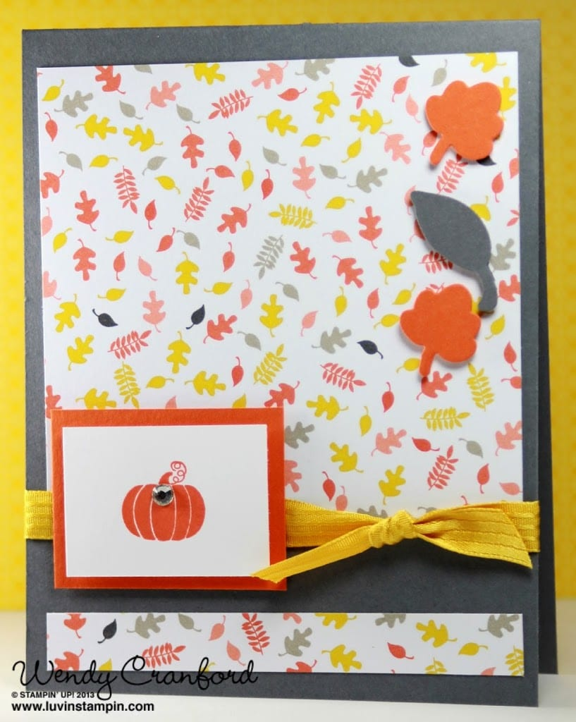 stampin up fall fest framelits fall leaves