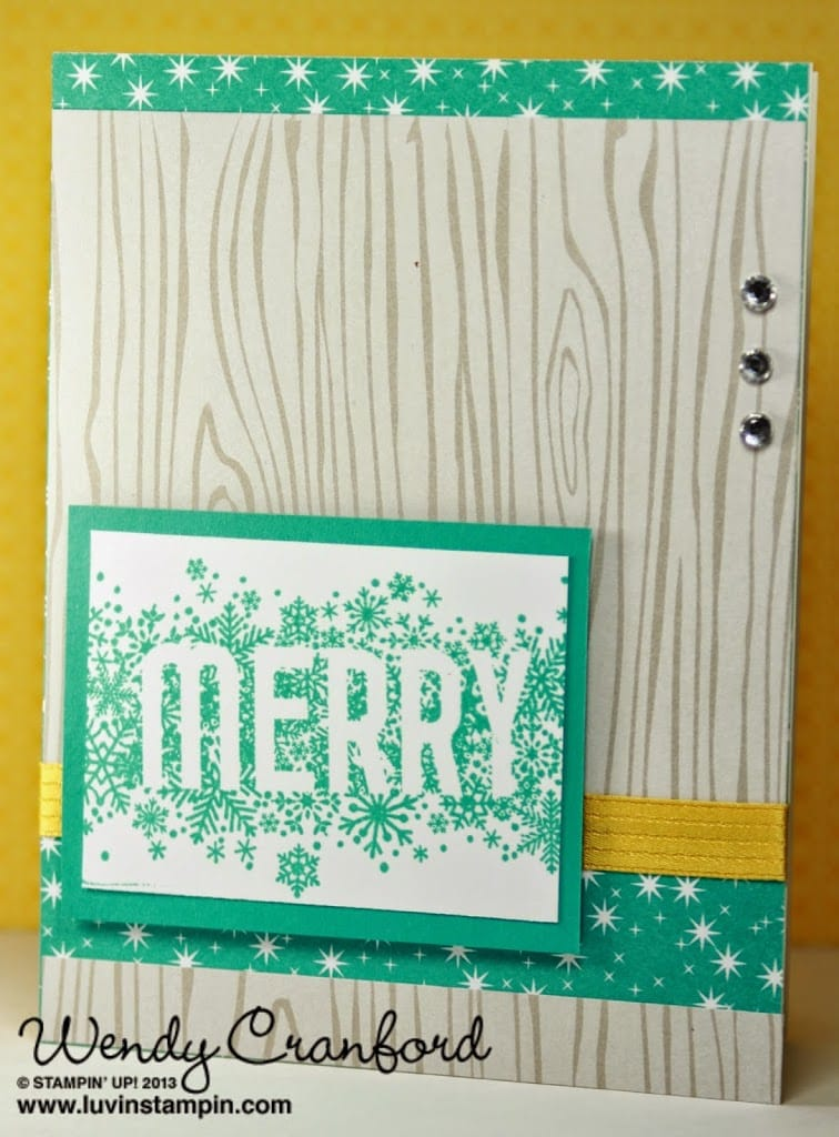 stampin up seasonally scattered stamp set christmas card