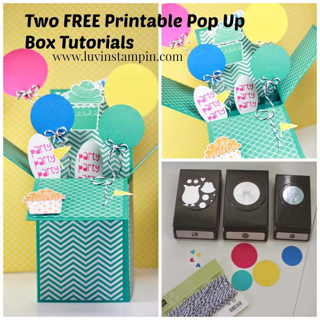 free pop up box card tutorial