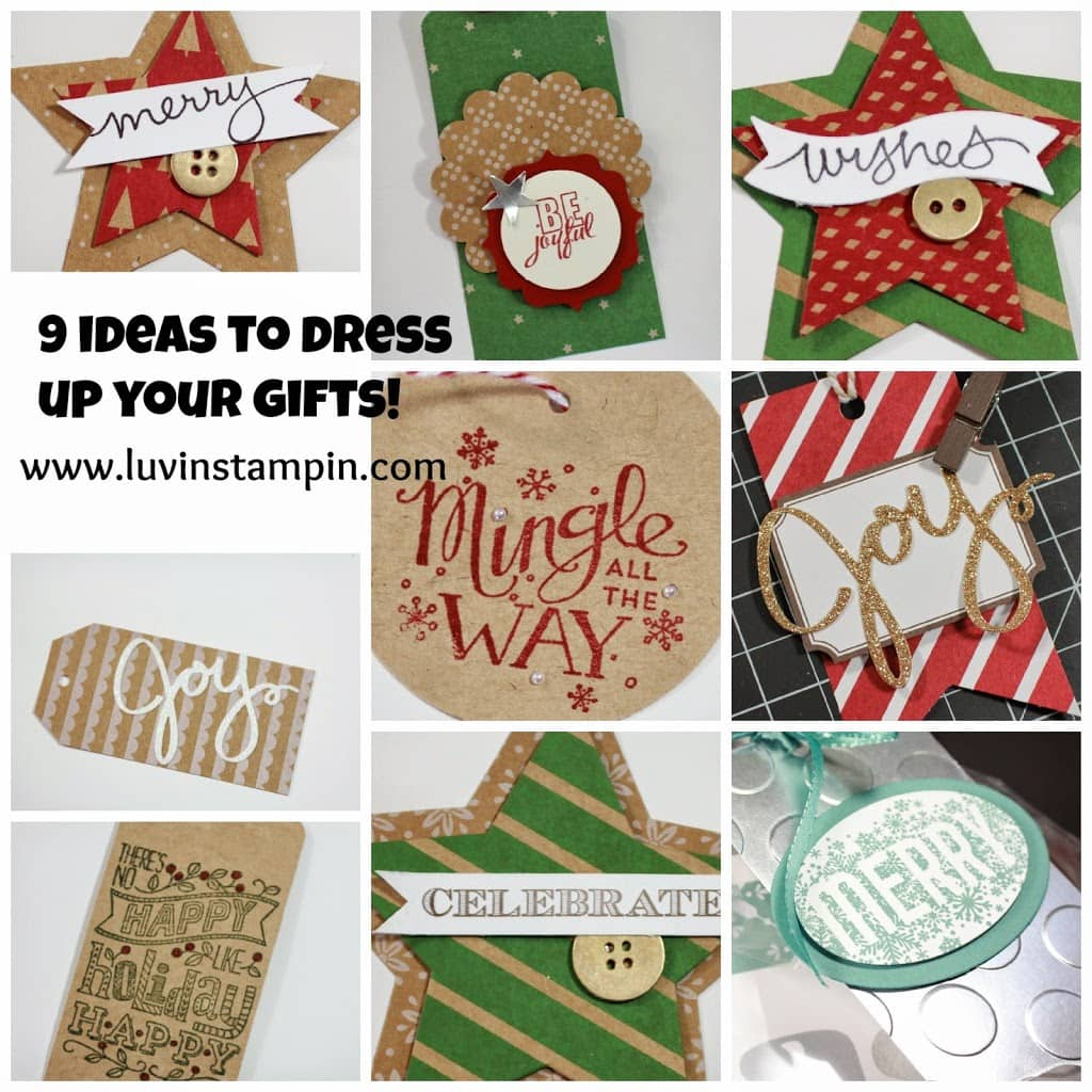 christmas tags stampin up