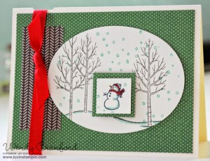christmas card white christmas stamp set stampin up