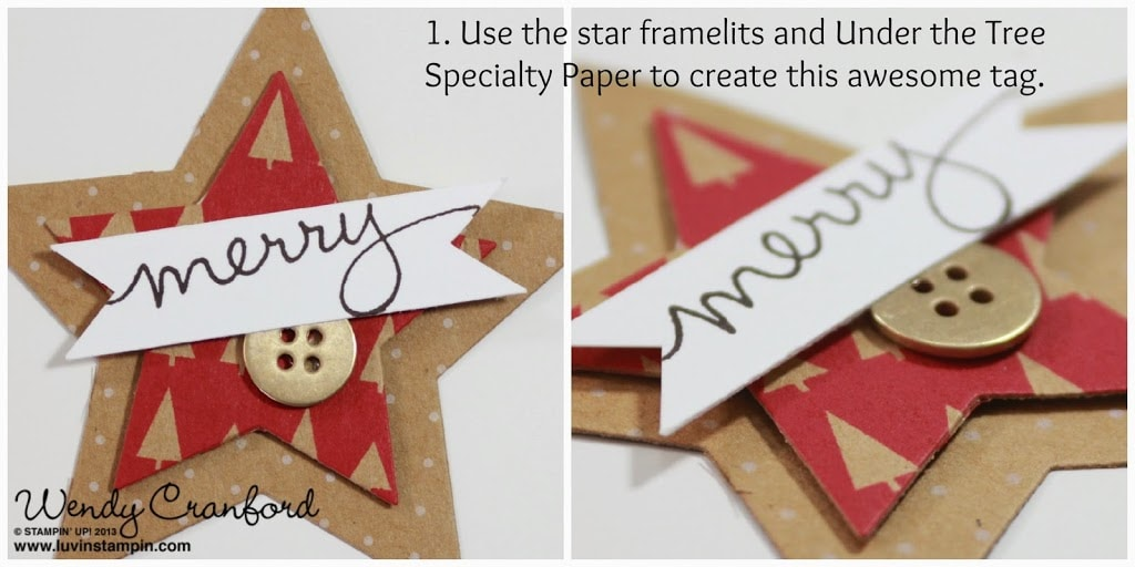 under the tree paper star framelits stampin up