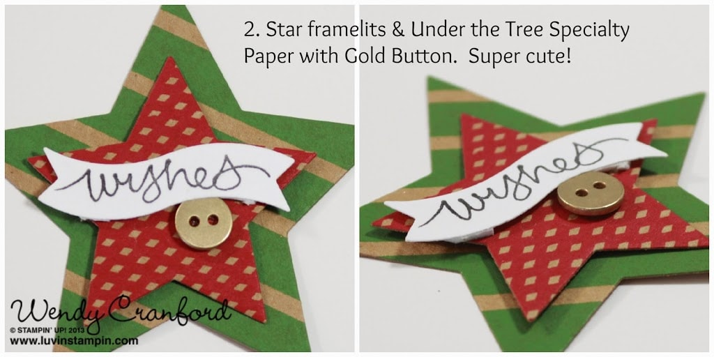star framelits under the tree stampin up