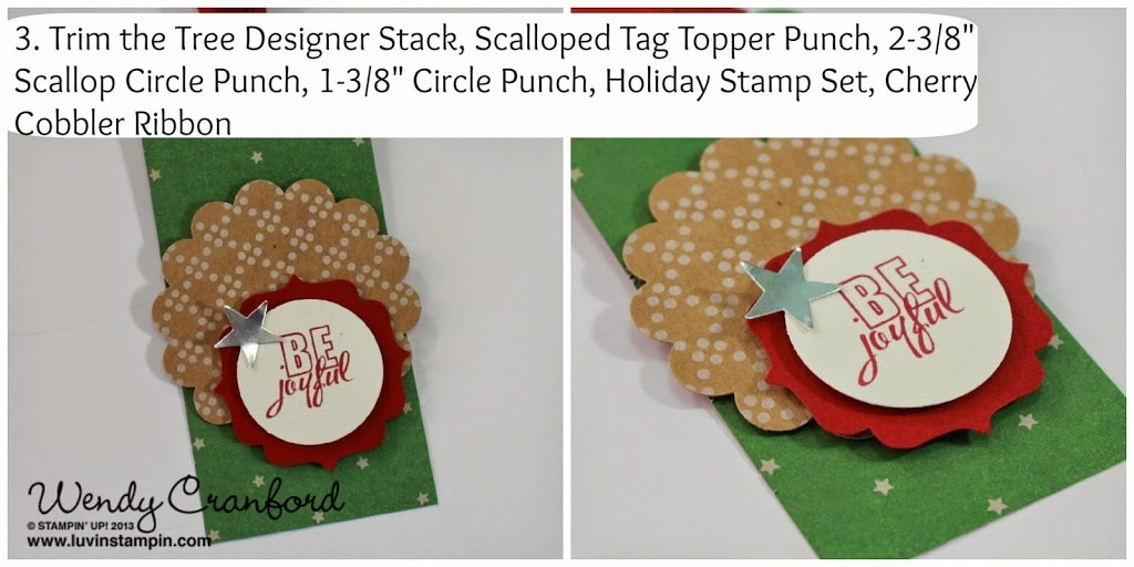 under the tree paper christmas tag stampin up