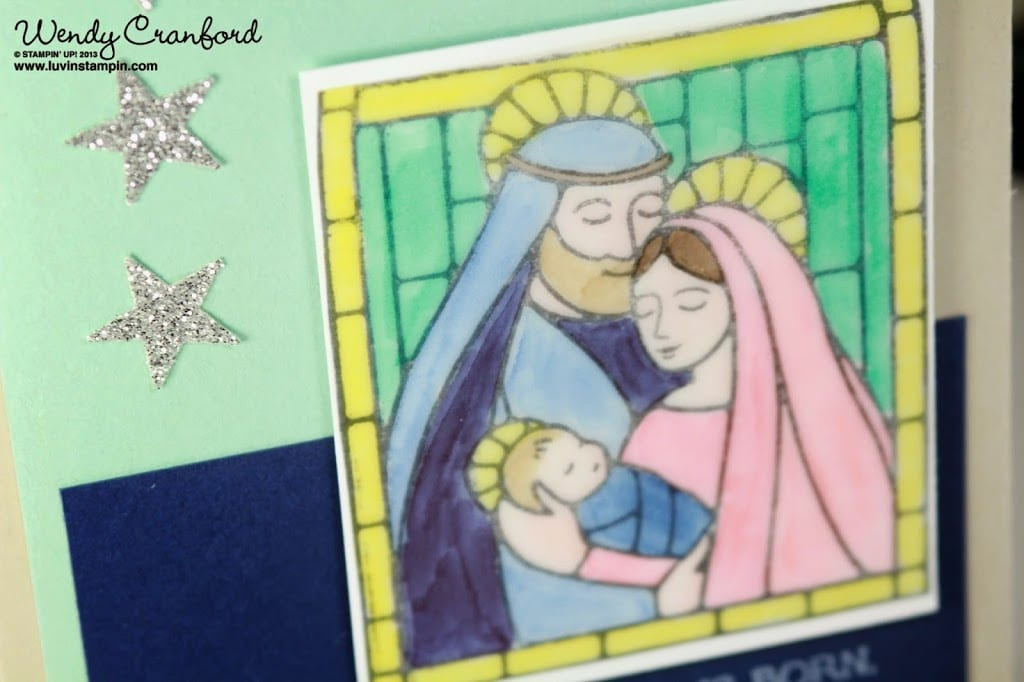 gentle peace stamp set christmas card