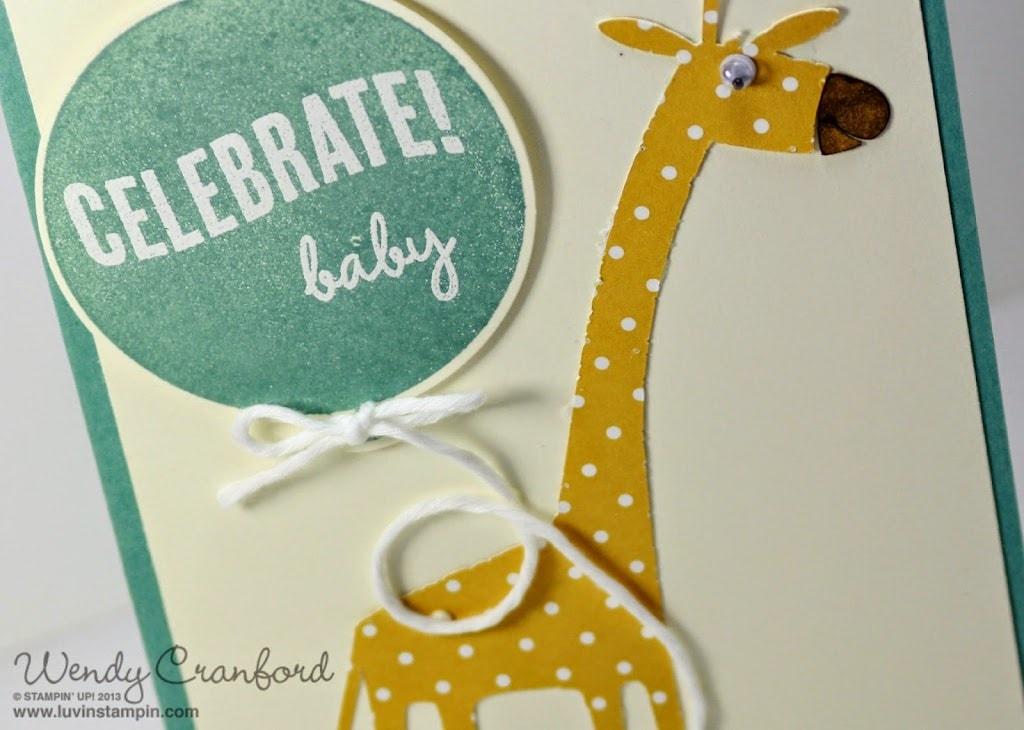 celebrate today stamp set stampin up giraffe card