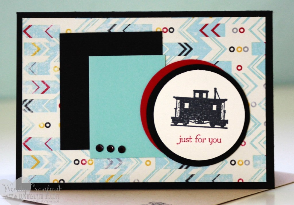 stampin up train card