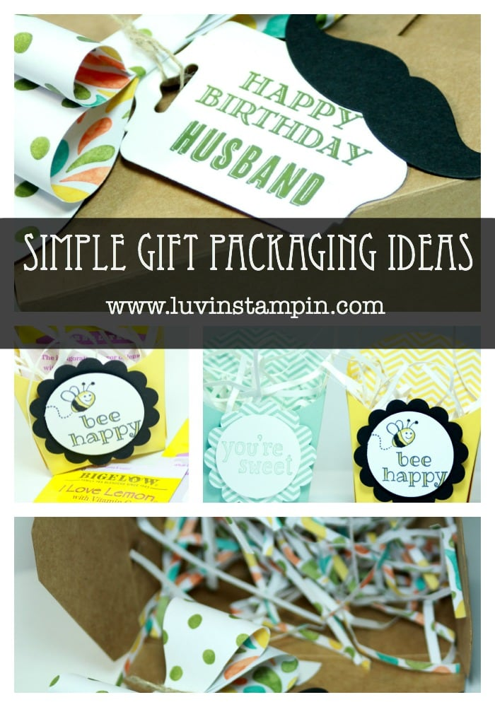 gift packaging stampin up