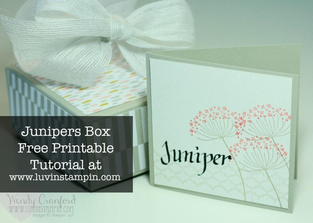juniper box stampin up