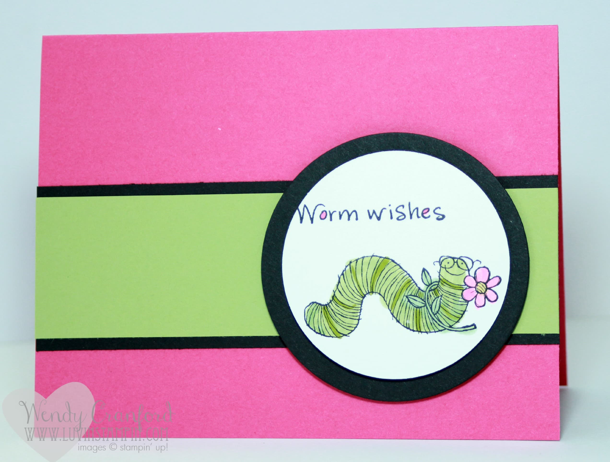 Stampin Up Birthday Cards For Kids ~ Worm wishes kids birthday card luvin stampin