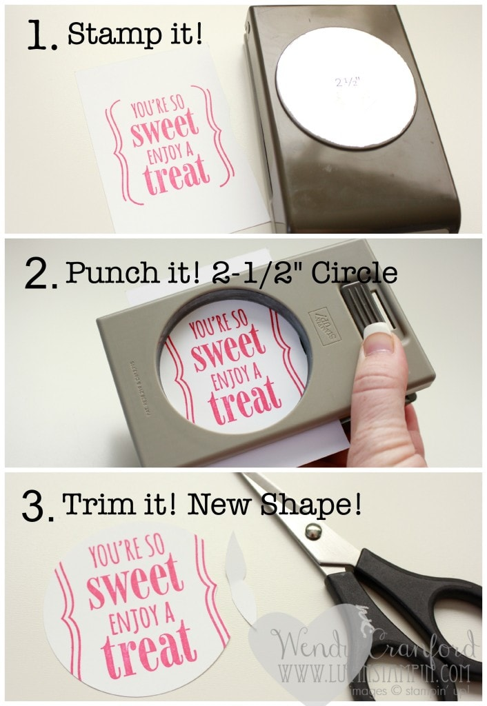 You're So Sweet Stamp Set Punch Shape