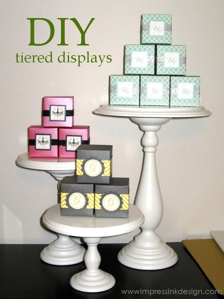 Trade Cake Stands : Ideas for displaying your crafts cards luvin stampin