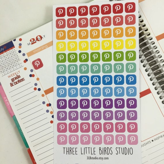 pinterest stickers planner review