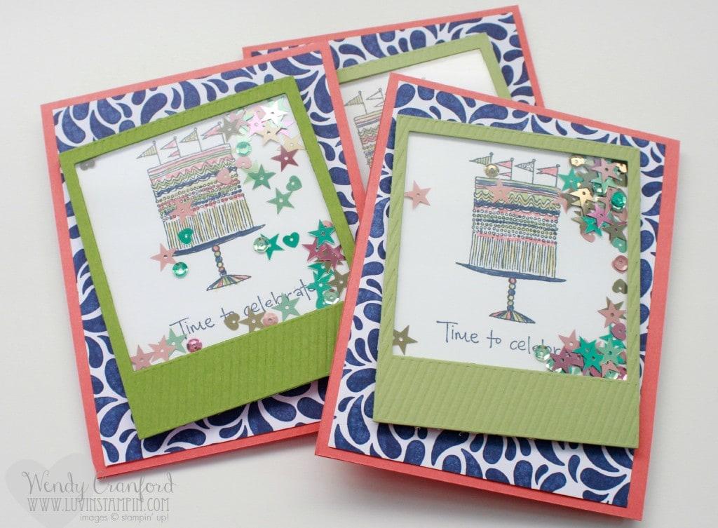 Shaker Frame Card Stampin Up