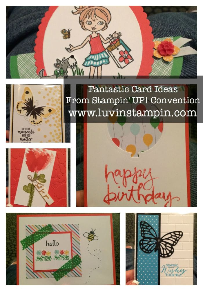 card ideas from stampin up convention 2015