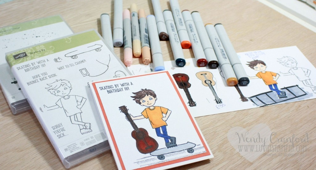 skating by stampin up learning copies