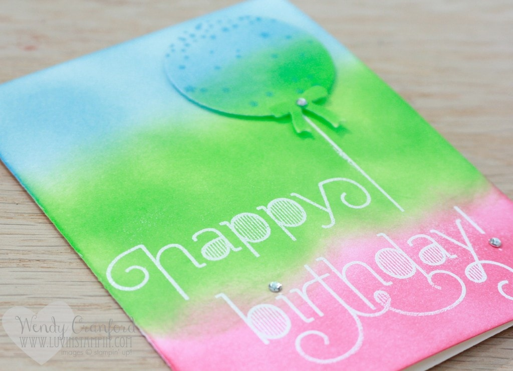 sponging and embossing technique happy birthday