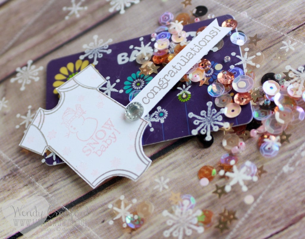 clear baby shaker card