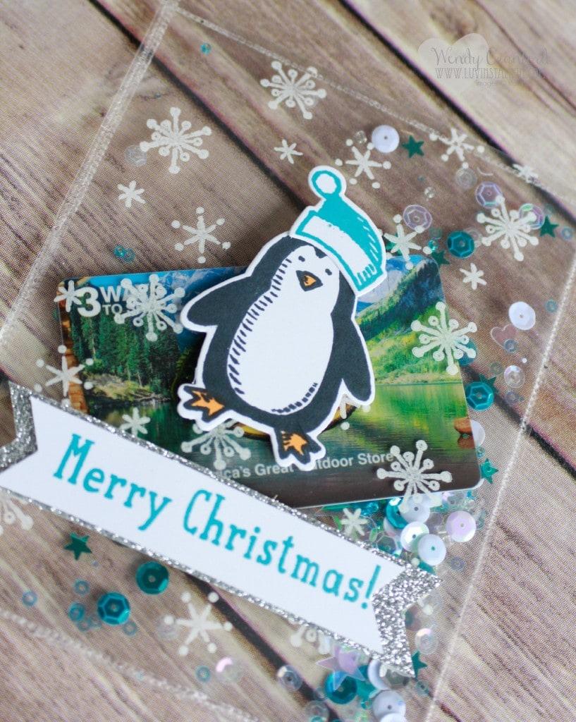 clear christmas shaker card