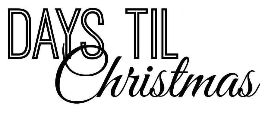 Days Until Christmas Printable.Days Till Christmas Printable Luvin Stampin