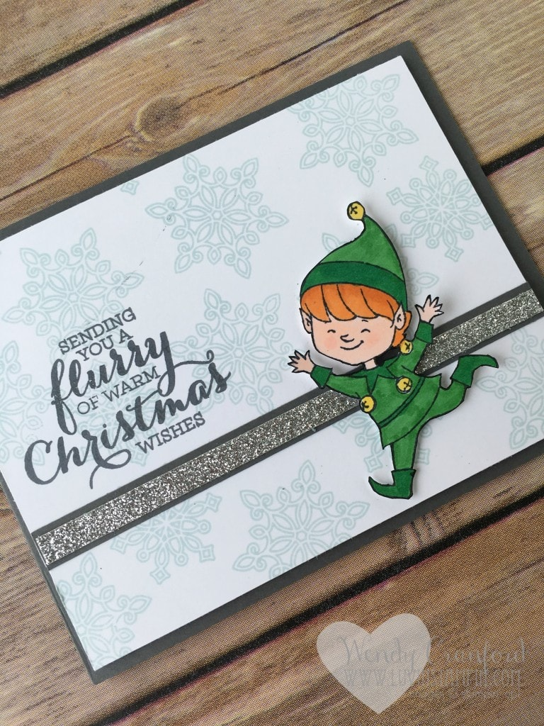 flurry of wishes elf card