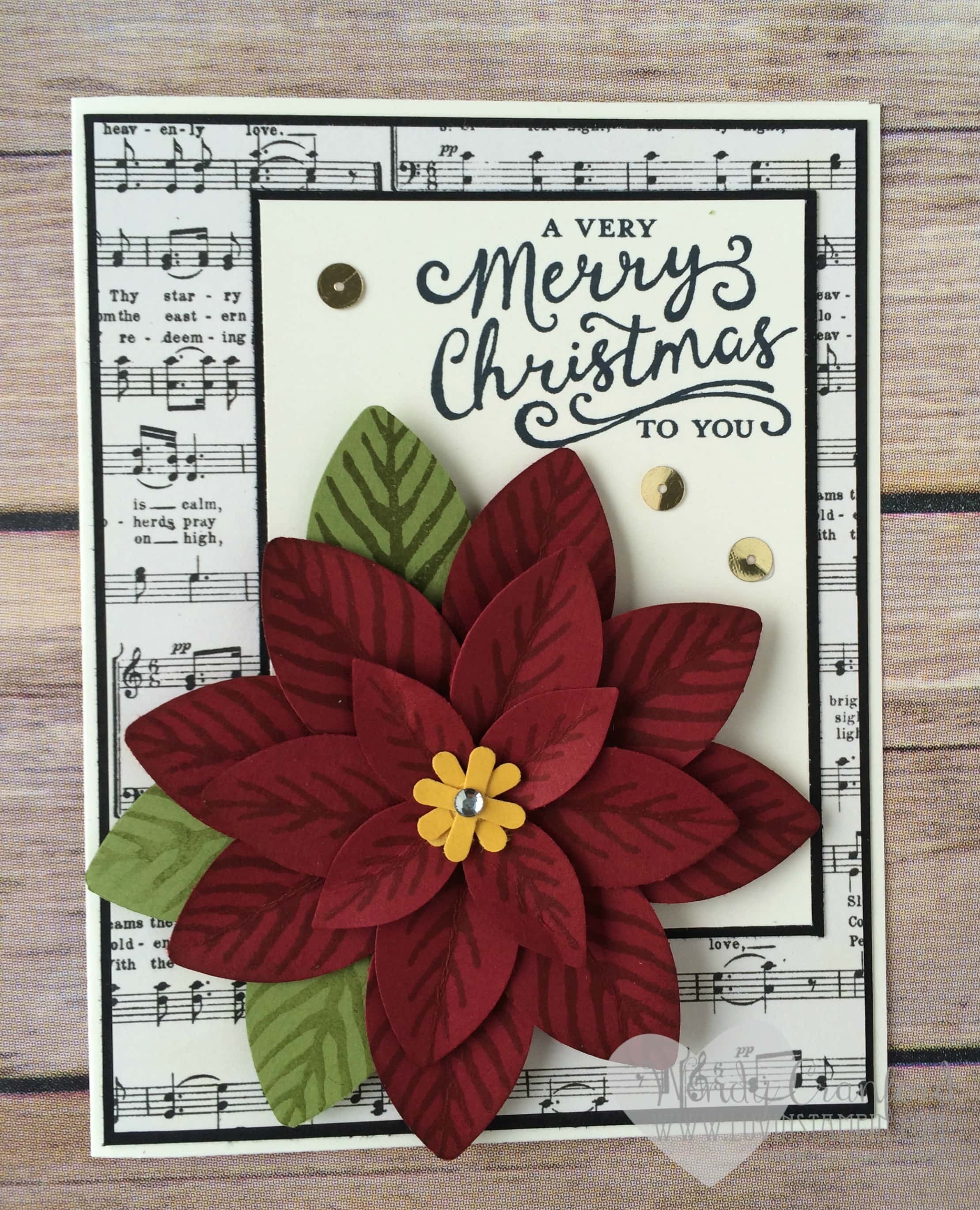 poinsettia punch art card