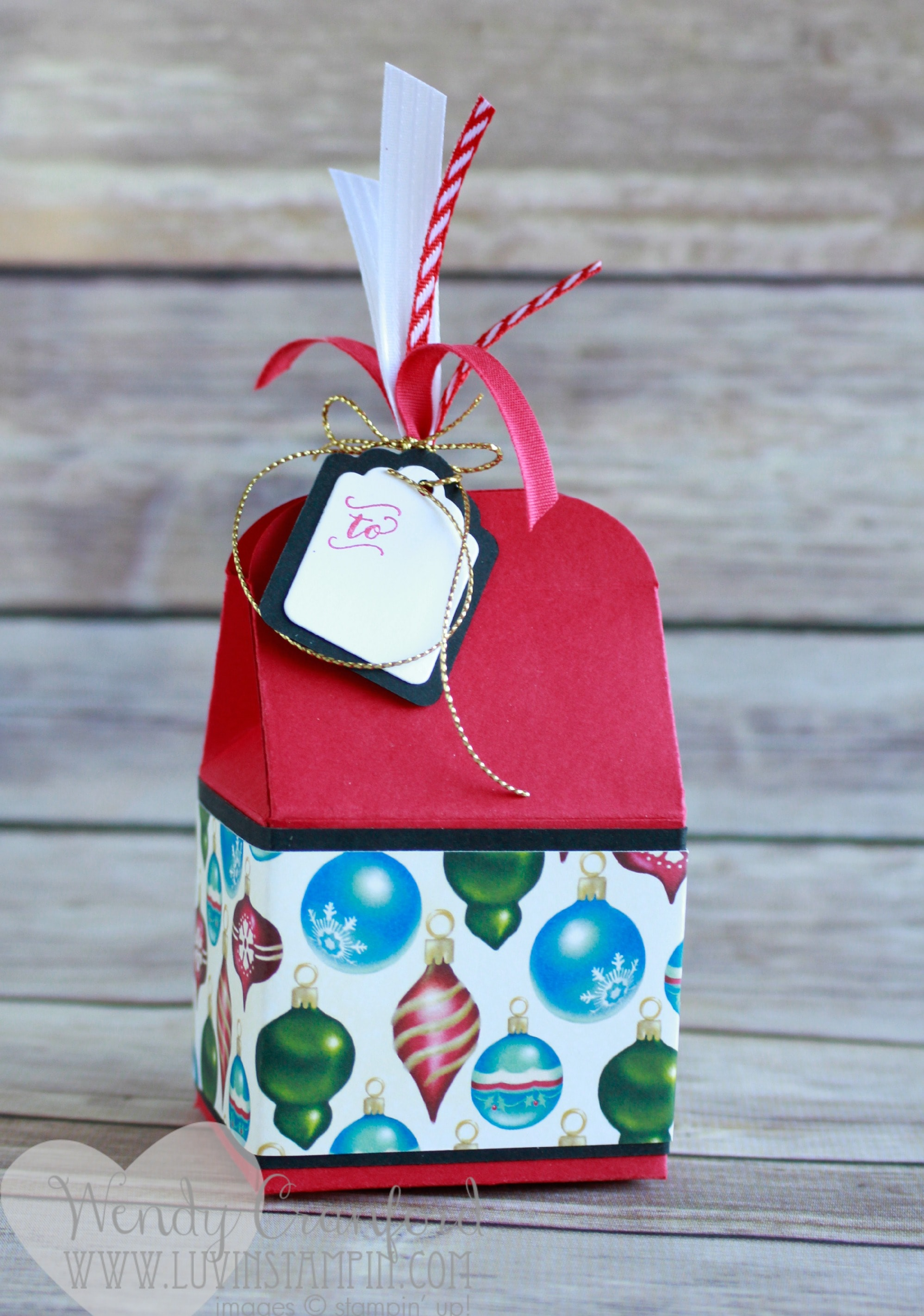 create this adorable gift box using stampin up bakers box framelits created by