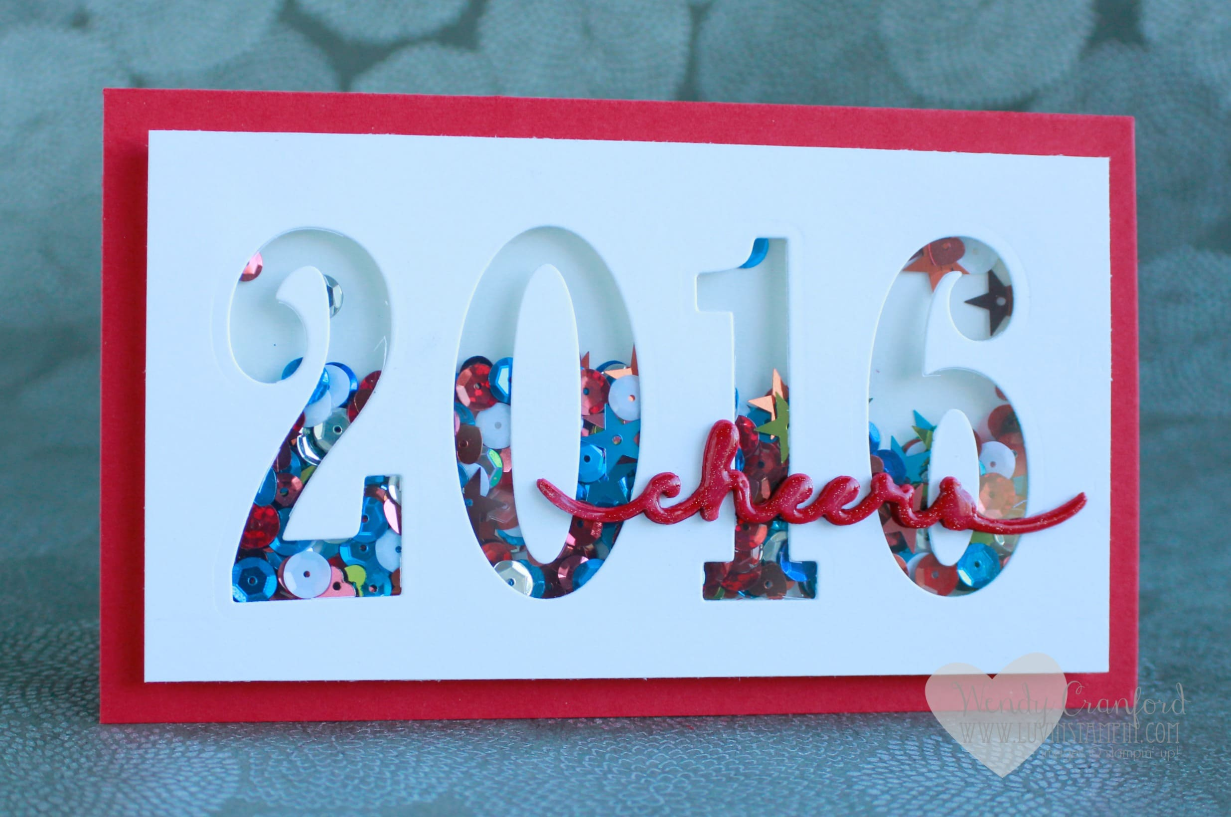 fun 2016 shaker card using the 2016 stampin up occasions catalog framelits large numbers happy new year