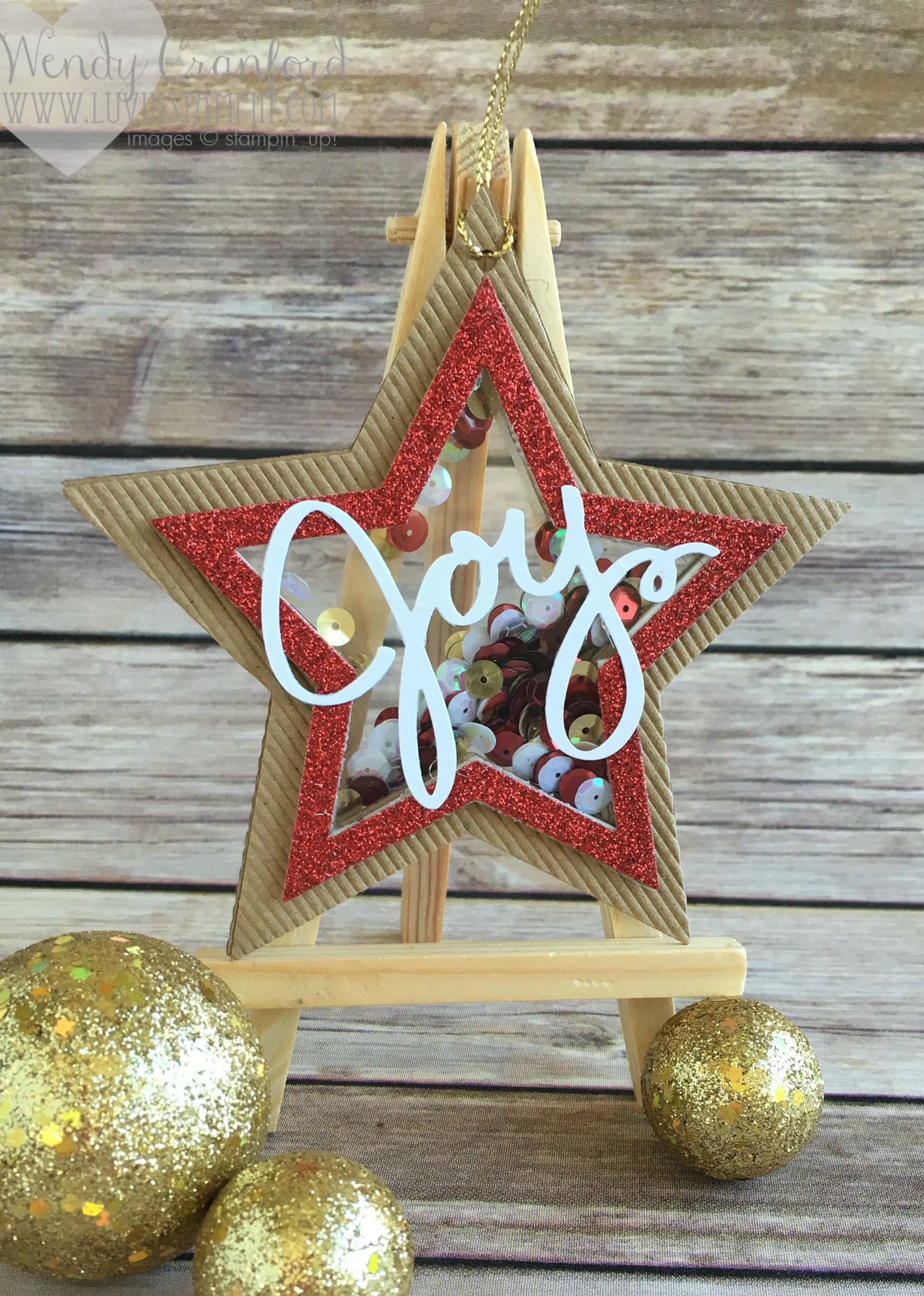 Create This Star Shaker Ornament Using The Framelits From Stampin Up And Wow Christmas Tree