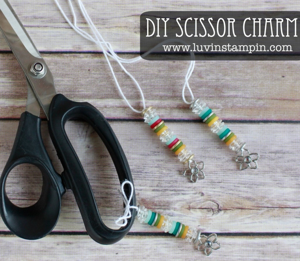 DIY scissor charms are so fun and easy to make. Check out the video on my blog at luvinstampin.com