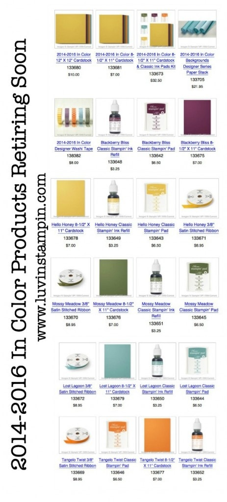 2014-2016 Stampin' UP! In Colors