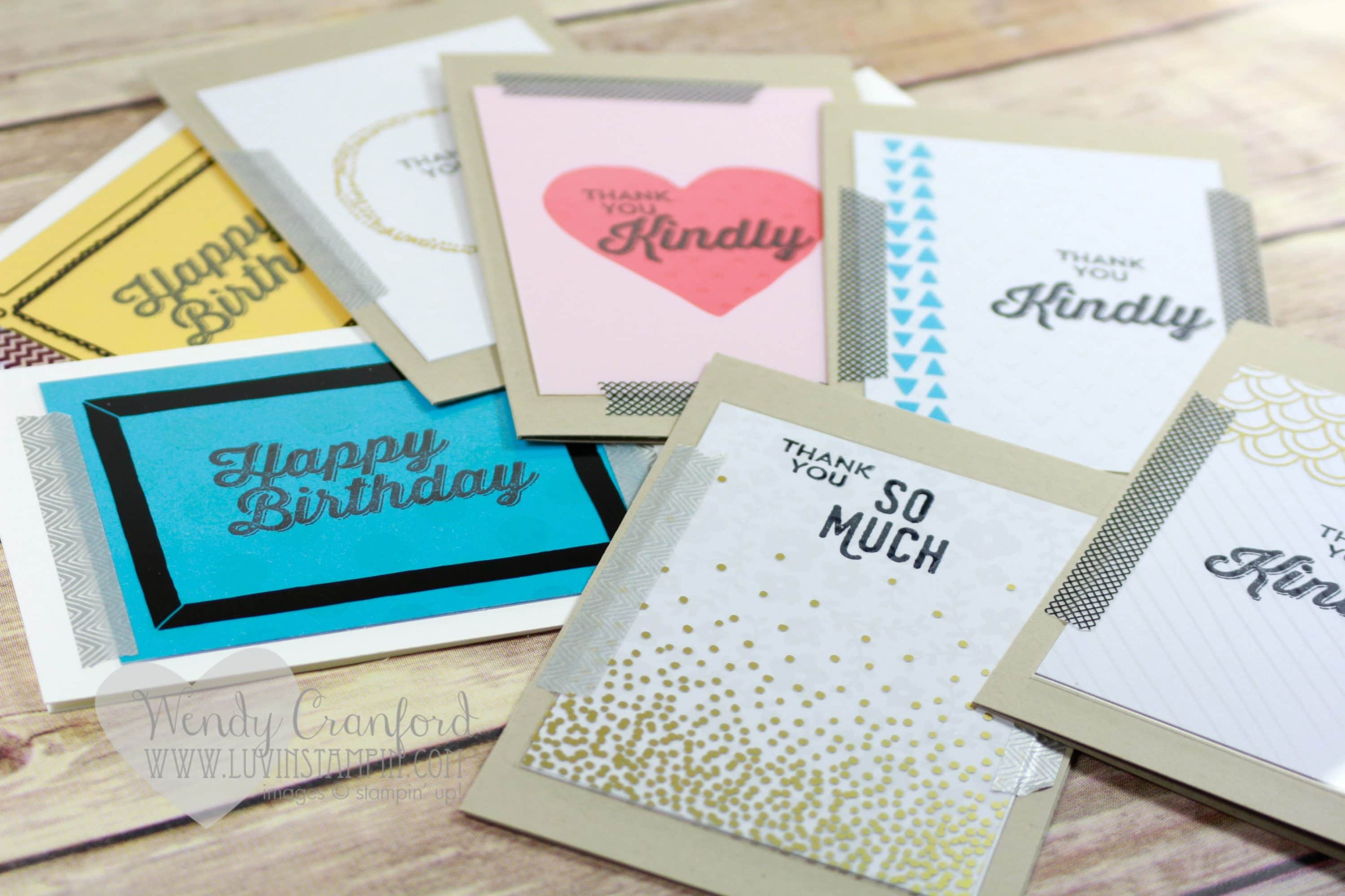 Have you gotten all you want simple project life thank you cards created several thank you and birthday cards using memories in the making project life specialty cards kristyandbryce Choice Image