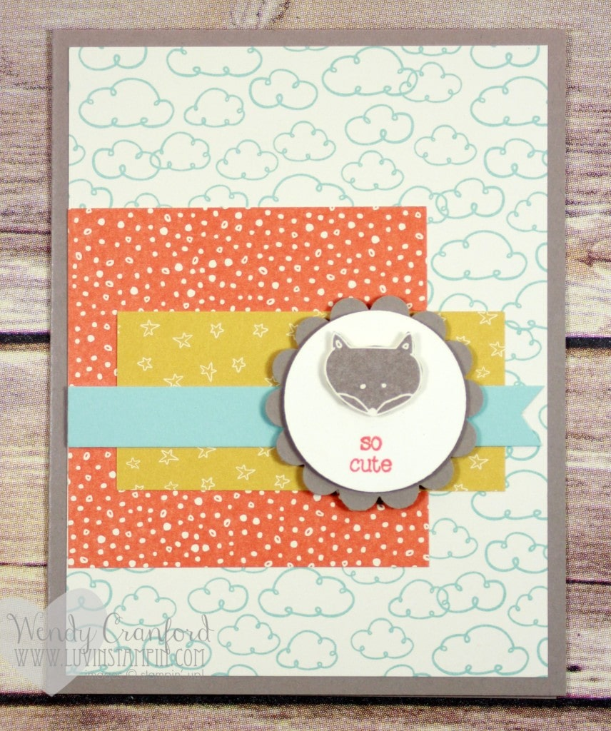May Stamp Luvers card project number 1. Make sure to check out how to make all the card kits in my live event May 4th at 2pm PST Wendy Cranford luvinstampin.com