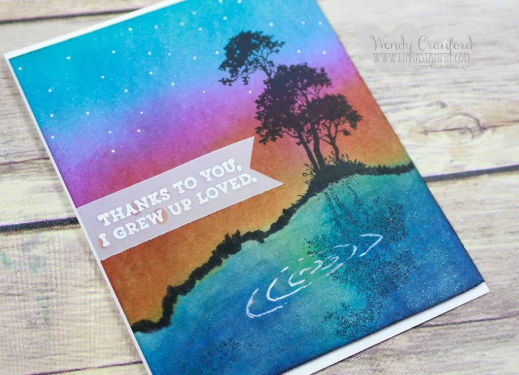How to create a mirror image card. Wendy Cranford luvinstampin.com