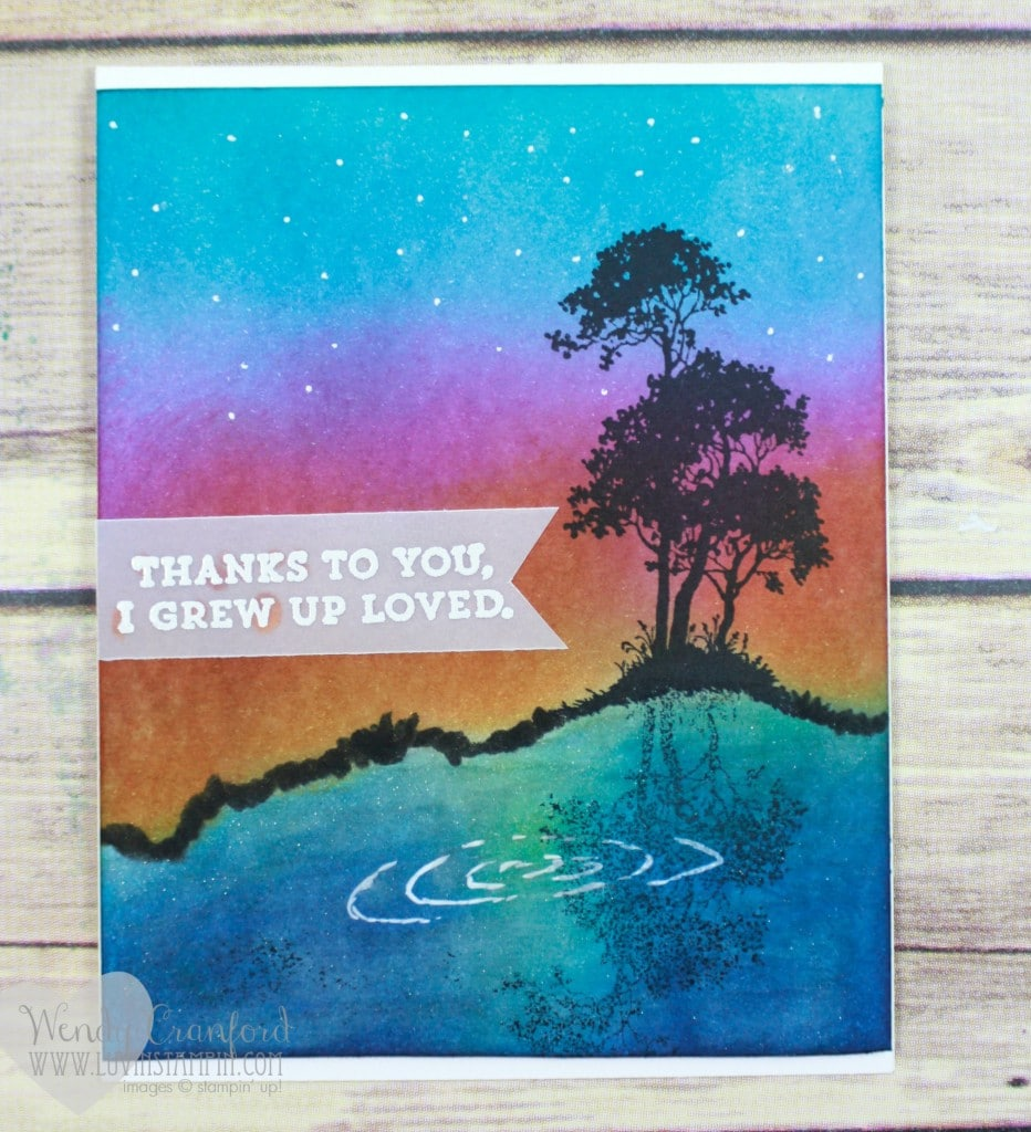 How to create a mirror image when stamping your cards. Wendy Cranford luvinstampin.com