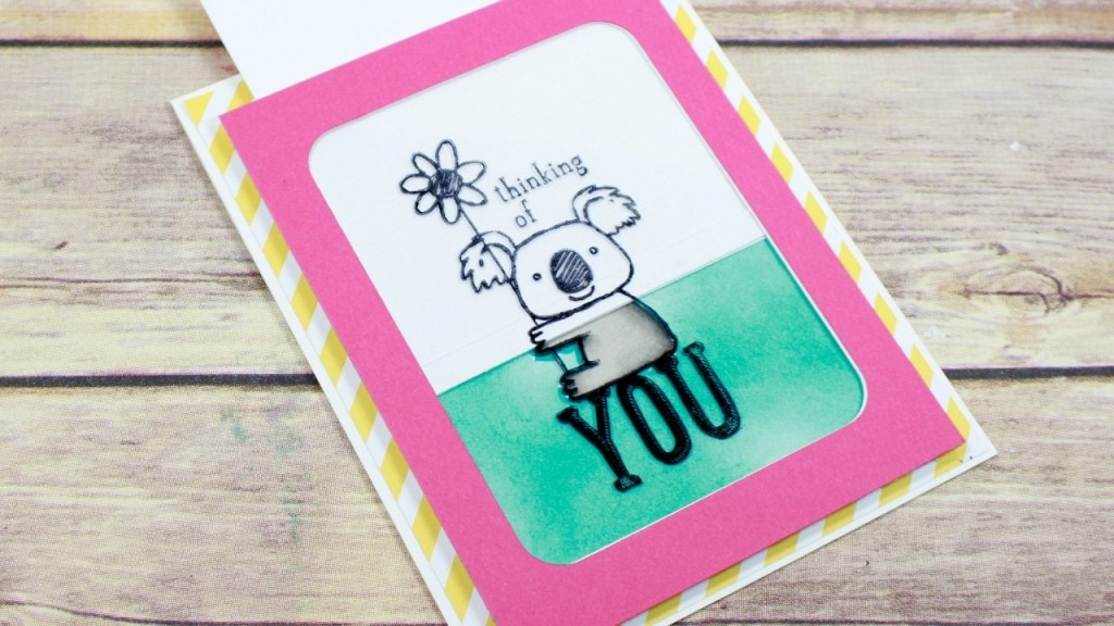 Color magic slider card. Created using Stampin' UP! products. Free card tutorial on my blog luvinstampin.com Wendy Cranford