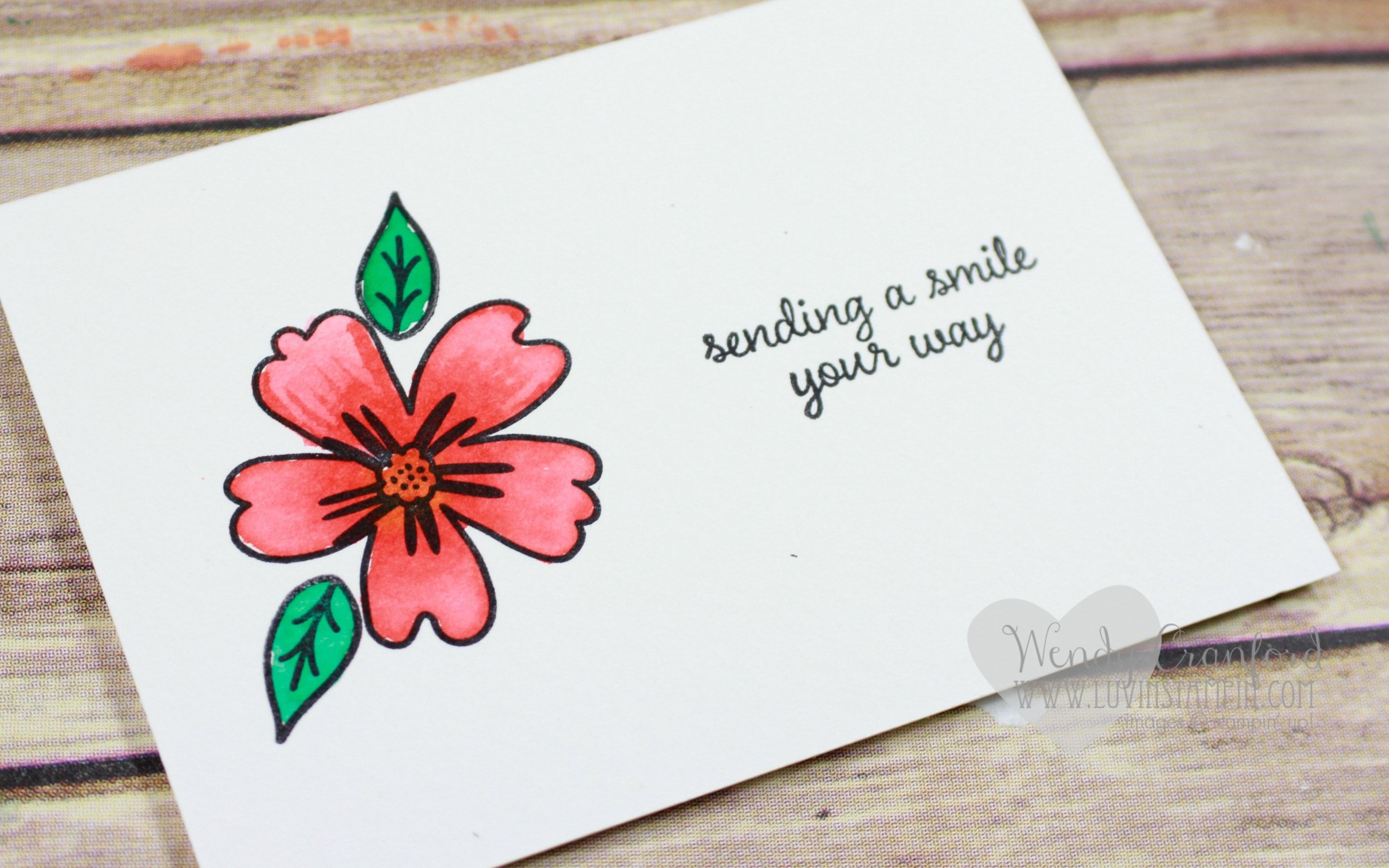 Watercolor Ideas 4 Card 1 Stamp Set Love And Affection Luvin