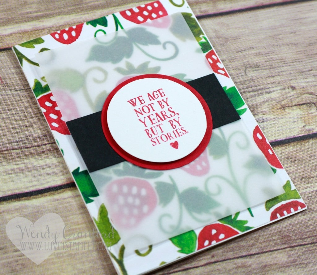 August 2016 Free card kit Wendy Cranford www.luvinstampin.com