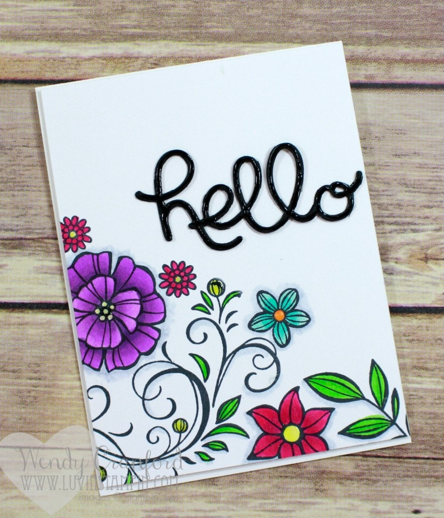 Creating a stamped floral background to color with copics. Wendy Cranford www.luvinstampin.com