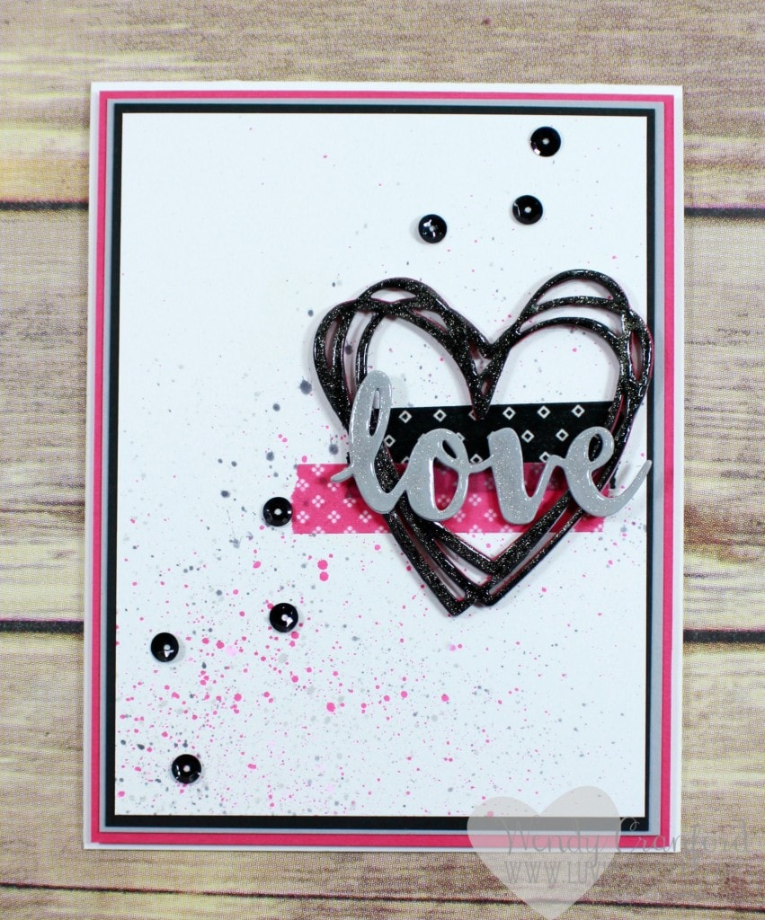 Stampin' UP!'s melon mambo, basic black and smoky slate make a striking color combination. Love this challenge from #gdp045 Wendy Cranford www.luvinstampin.com