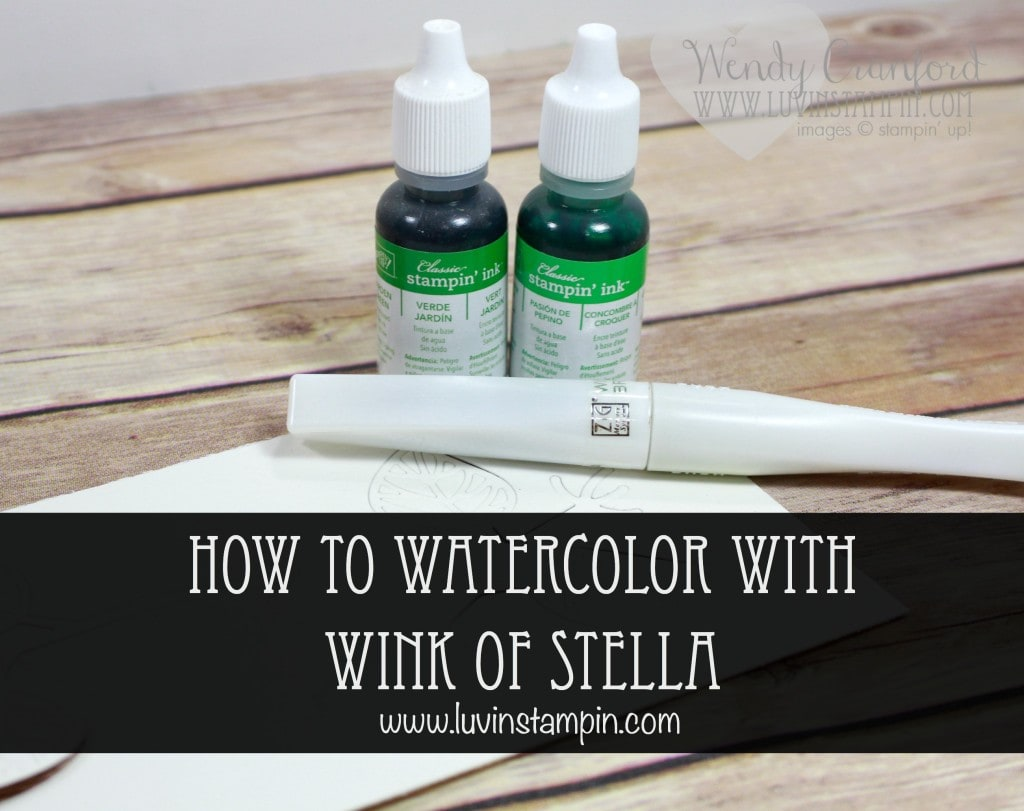 How to watercolor using the wink of stella pen Wendy Cranford luvinstampin.com
