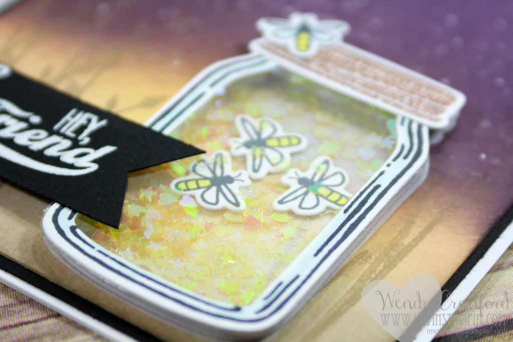 Create a beautiful summer night scene and your own lightening bug jar with the Jars of Love stamp set and framelit set from Stampin' UP! Wendy Cranford luvinstampin.com