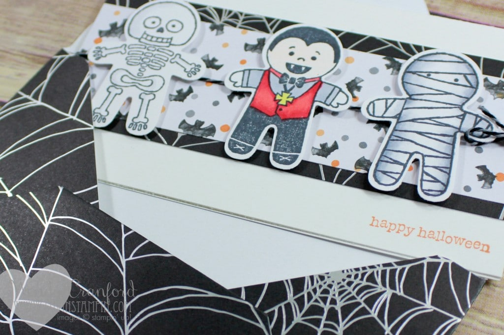 Fun card using the 2016 Stampin' UP! Holiday catalog stamp set Cookie Cutter Halloween. Wendy Cranford luvinstampin.com