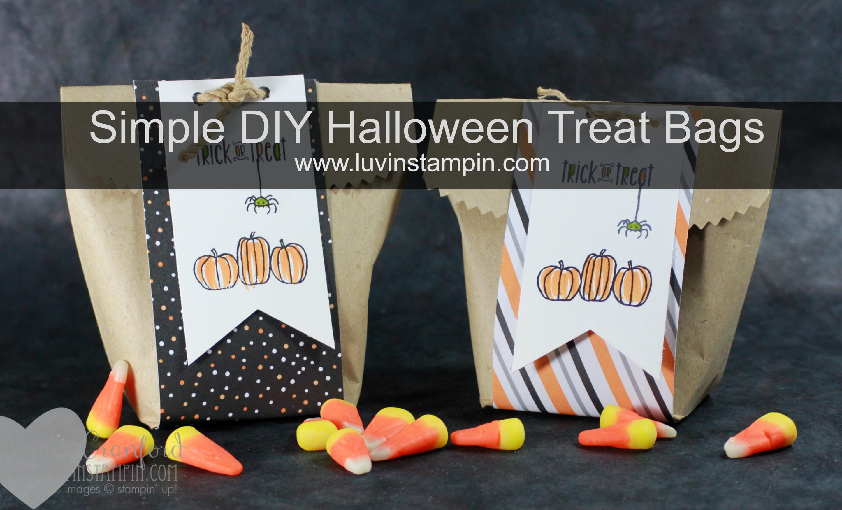 simple diy halloween treat bags to give at school or to friends and family featuring