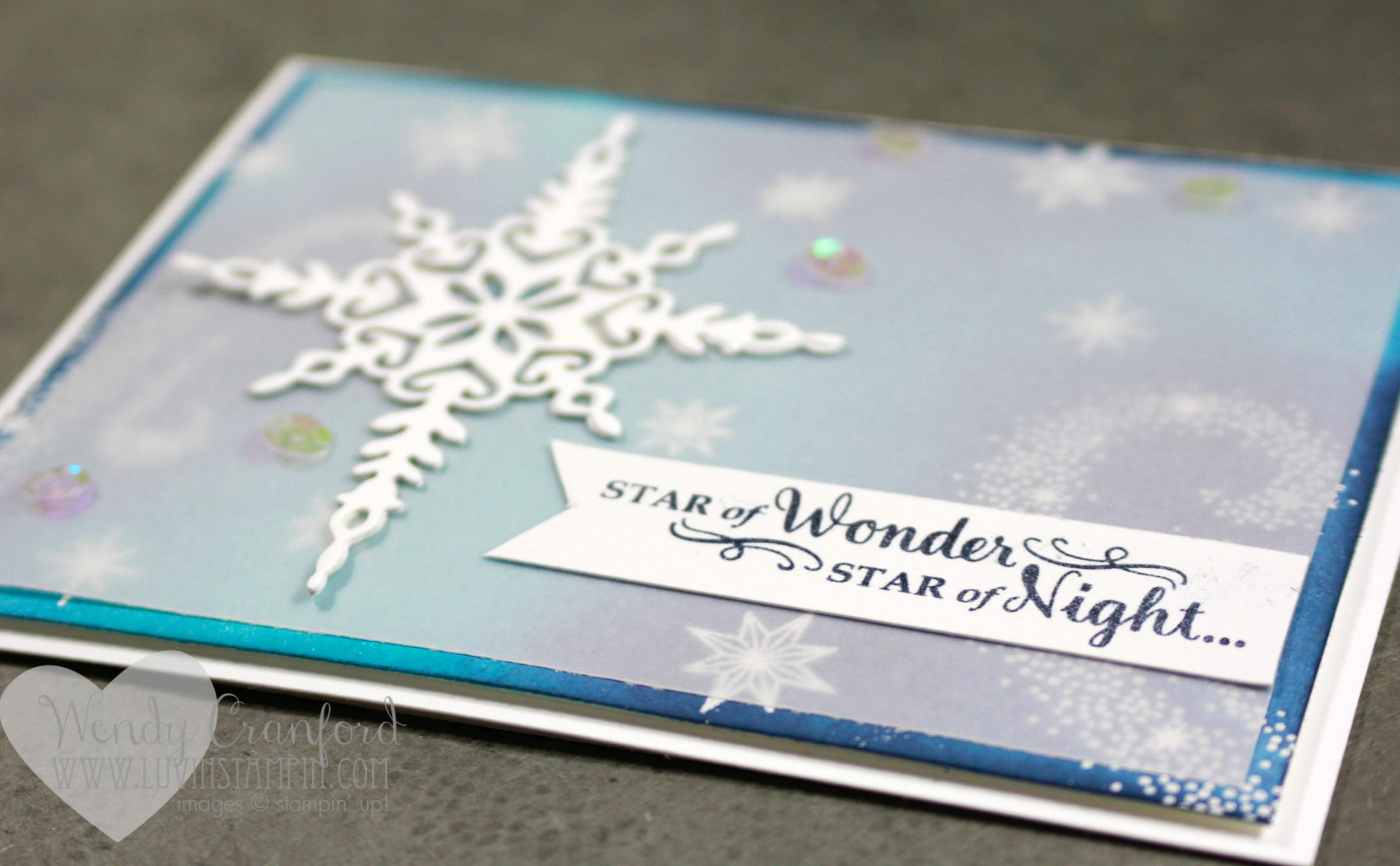 Create a gorgeous card like this using