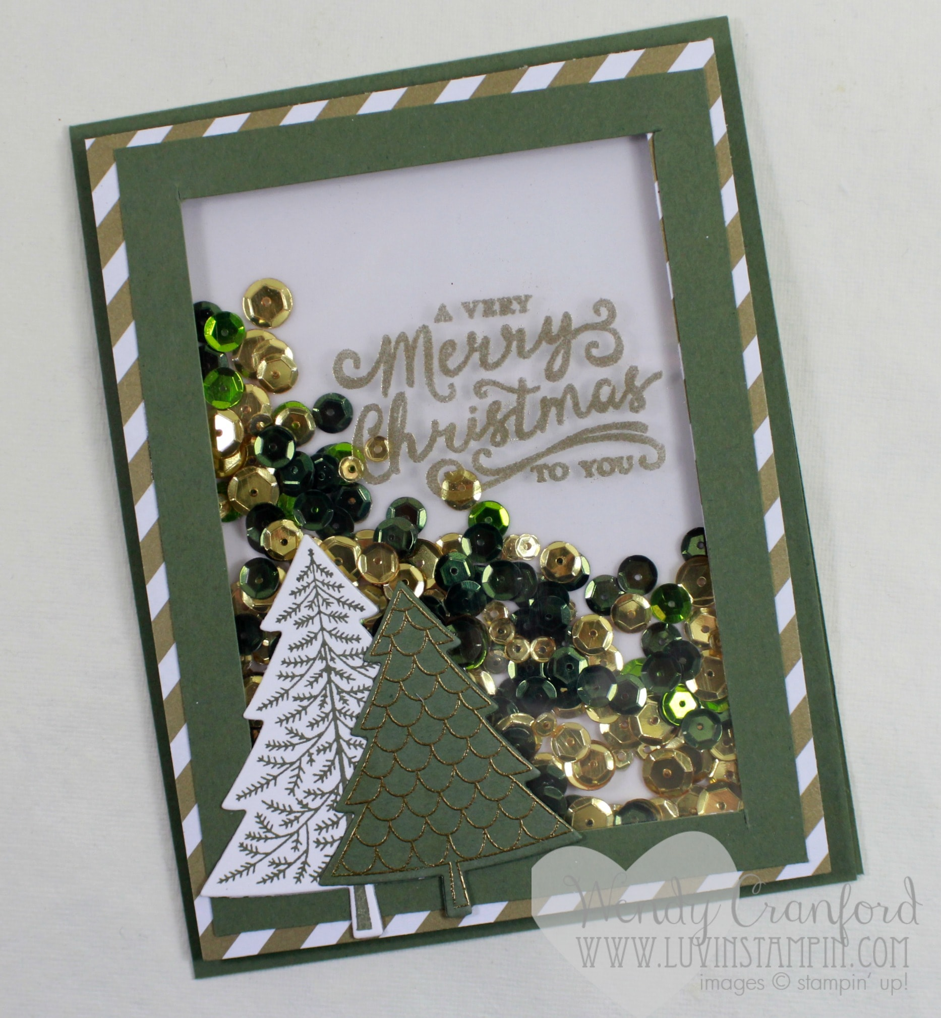 Christmas Tree Shaker Card | Luvin Stampin