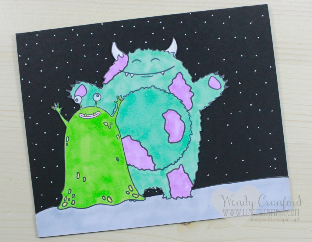 Create adorable love monsters using the sealed with love stamp set from Stampin' UP! and the Yummy in my Tummy stamp set. Wendy Cranford luvinstampin.com