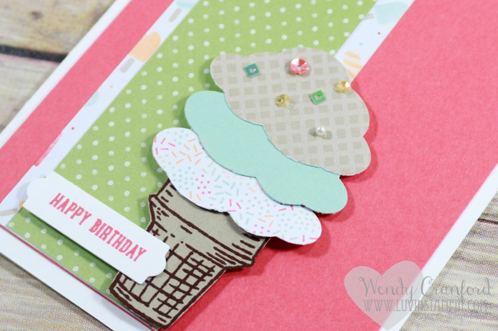 Free card kits for March 2017. Cool Treats bundle from Stampin' UP! featured along with Tasty Treats designer series paper Wendy Cranford www.luvinstampin.com