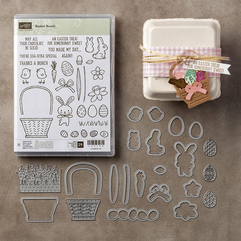 Basket Bundle stamp set and framelit set from Stampin' UP! Wendy Cranford luvinstampin.com
