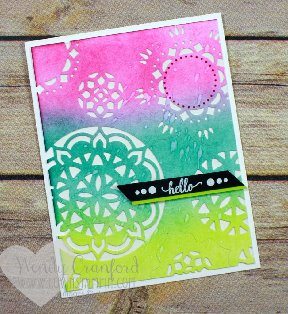 Created this beautiful greeting card using the Eastern Palace suite of products from Stampin' UP! Wendy Cranford www.luvinstampin.com